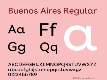 BuenosAires-Regular Version 24.000 Font Sample