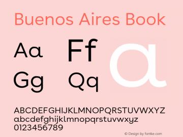 BuenosAires-Book Version 24.000 Font Sample