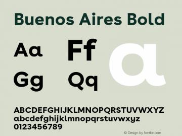 BuenosAires-Bold Version 24.000 Font Sample