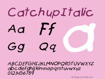 Catchup Italic Altsys Fontographer 4.1 12/27/94 Font Sample
