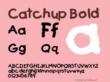 Catchup Bold Altsys Fontographer 4.1 5/26/96 Font Sample