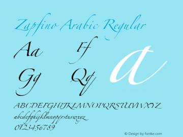 Zapfino Arabic Version 1.00图片样张