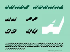 Shade Normal 1.0 Wed Jul 28 18:37:17 1993 Font Sample