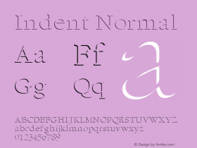 Indent Normal Altsys Fontographer 4.1 1/5/95 Font Sample