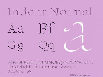 Indent Normal Altsys Fontographer 4.1 1/5/95 Font Sample