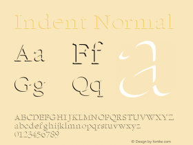 Indent Normal Altsys Fontographer 4.1 11/6/95 Font Sample