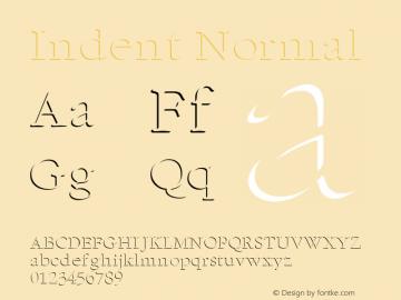 Indent Normal Altsys Fontographer 4.1 11/6/95 Font Sample