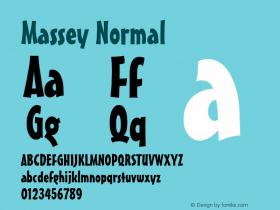 Massey Normal 1.0 Wed Jul 28 13:23:09 1993 Font Sample