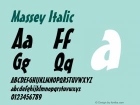 Massey Italic 1.0 Wed Jul 28 13:22:15 1993 Font Sample
