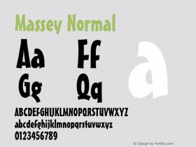 Massey Normal Macromedia Fontographer 4.1 6/28/96 Font Sample