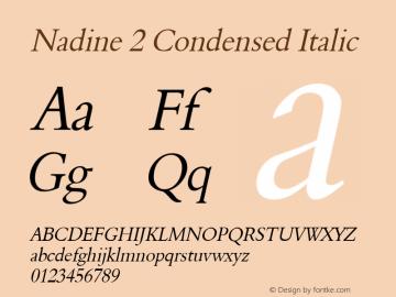 Nadine 2 Condensed Italic 1.0 Wed Jul 28 14:44:46 1993 Font Sample