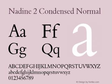 Nadine 2 Condensed Normal 1.0 Wed Jul 28 14:41:27 1993 Font Sample
