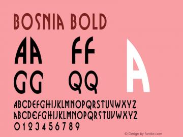 Bosnia Bold Altsys Fontographer 4.1 1/31/95 Font Sample