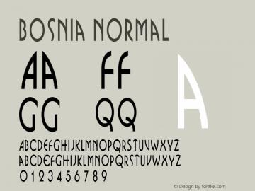Bosnia Normal Altsys Fontographer 4.1 1/31/95 Font Sample