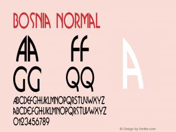 Bosnia Normal Altsys Fontographer 4.1 11/1/95 Font Sample