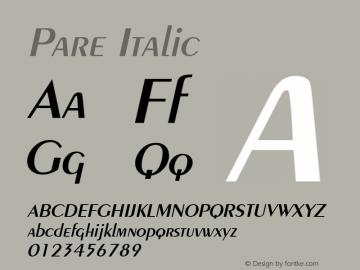 Pare Italic Altsys Fontographer 4.1 11/3/95 Font Sample