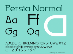 Persia Normal Altsys Fontographer 4.1 2/2/95 Font Sample