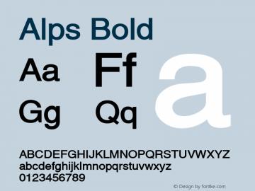 Alps Bold Altsys Fontographer 4.1 12/26/94 Font Sample