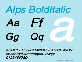 Alps BoldItalic Altsys Fontographer 4.1 12/26/94 Font Sample