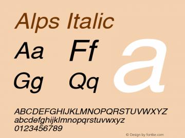 Alps Italic Altsys Fontographer 4.1 5/28/96 Font Sample