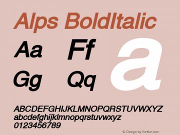 Alps BoldItalic Altsys Fontographer 4.1 5/28/96 Font Sample