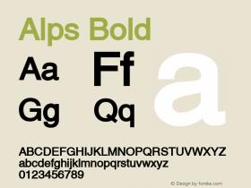 Alps Bold Altsys Fontographer 4.1 5/28/96 Font Sample
