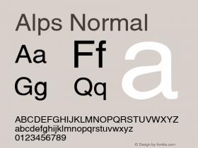 Alps Normal Altsys Fontographer 4.1 5/28/96 Font Sample