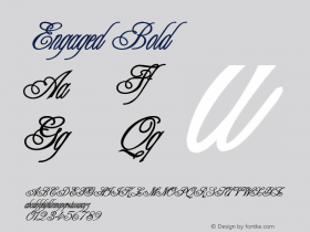 Engaged Bold Altsys Fontographer 4.1 12/22/94 Font Sample