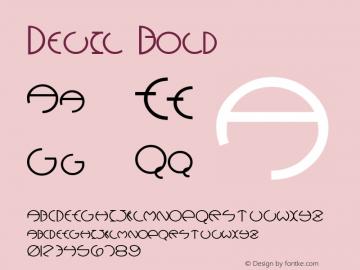 Devil Bold Altsys Fontographer 4.1 12/28/94 Font Sample