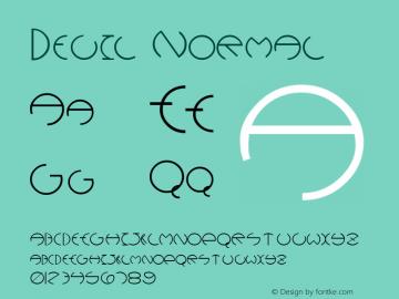 Devil Normal Altsys Fontographer 4.1 12/5/94 Font Sample