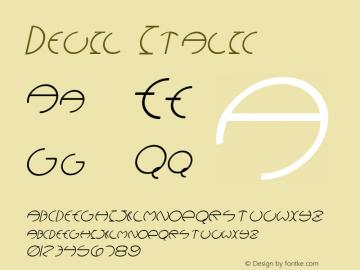 Devil Italic Altsys Fontographer 4.1 12/28/94 Font Sample