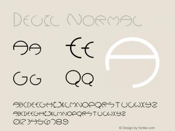 Devil Normal Altsys Fontographer 4.1 5/25/96 Font Sample