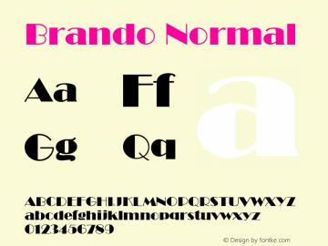 Brando Normal Altsys Fontographer 4.1 12/22/94 Font Sample