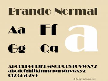 Brando Normal Altsys Fontographer 4.1 11/1/95 Font Sample