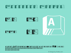 Typekeys Normal 1.0 Wed Jul 28 15:11:52 1993 Font Sample