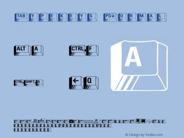 Typekeys Normal Altsys Fontographer 4.1 11/3/95 Font Sample