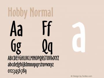 Hobby Normal 1.0 Wed Jul 28 16:34:14 1993 Font Sample