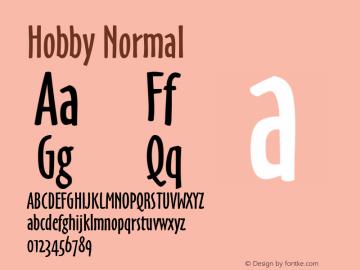 Hobby Normal Macromedia Fontographer 4.1 6/27/96 Font Sample