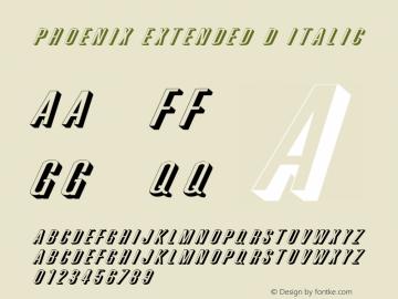 Phoenix Extended D Italic 1.0 Wed Jul 28 18:45:49 1993 Font Sample