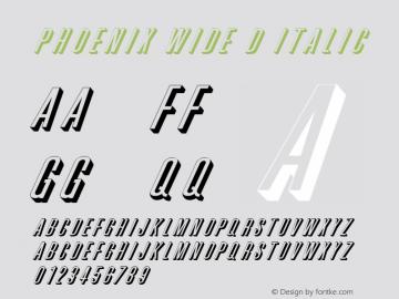 Phoenix Wide D Italic 1.0 Wed Jul 28 19:07:51 1993 Font Sample
