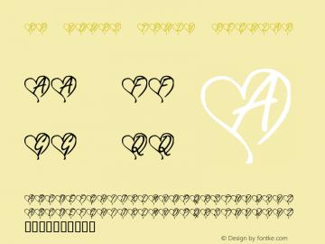 KR Yours Truly Regular Macromedia Fontographer 4.1 1/2/02 Font Sample