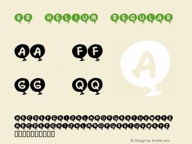 KR Helium Regular Macromedia Fontographer 4.1 1/2/02 Font Sample