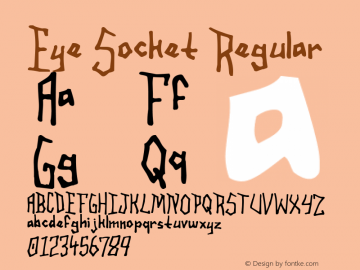 Eye Socket Regular 1.0 www.cumberlandgames.com Font Sample