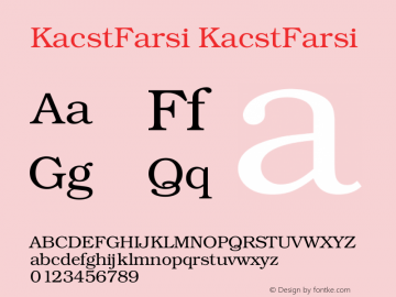 KacstFarsi KacstFarsi 1 Font Sample