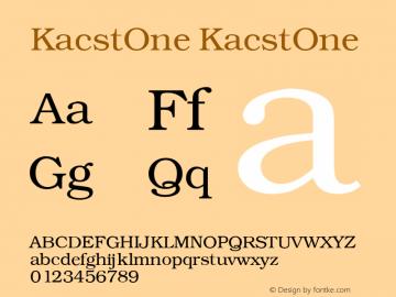KacstOne KacstOne 1 Font Sample