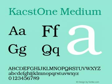 KacstOne Medium 1 Font Sample