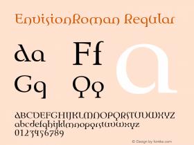 EnvisionRoman Regular Macromedia Fontographer 4.1 10/13/97图片样张
