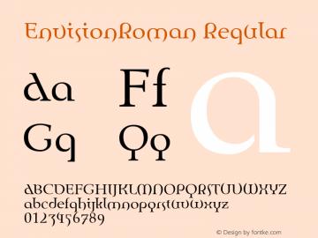 EnvisionRoman Regular Macromedia Fontographer 4.1 10/13/97 Font Sample