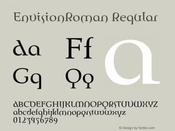 EnvisionRoman Regular 001.000 Font Sample