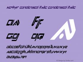 Xephyr Condensed Italic Condensed Italic 1 Font Sample